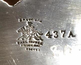 Mark on Tray - Sheffield, Paul Revere, Silver..., Boston, 437 A