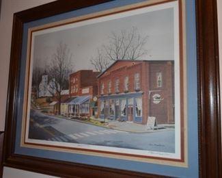 Tom Mewborn signed print of Demorest, GA