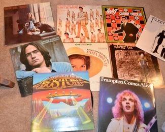 vintage vinyl record albums - Carol King, Boston, James Taylor, Elton John, Elvis, Chubby Checker, Fleetwood Mac, Peter Frampton, Blondie & many more!