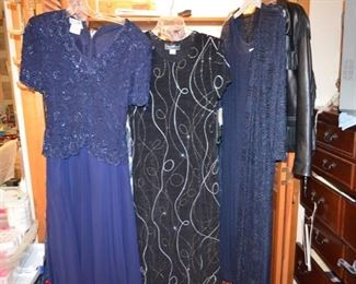 evening wear - clothes range in sizes from 8 - 14