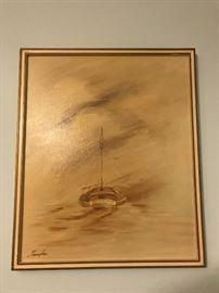 Original SeaScape signed Thompson