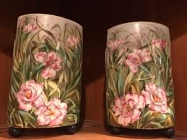 Pair of Beautiful Hand Painted Vases