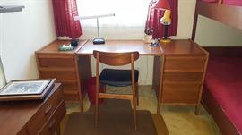 Teak desk & Bunk Beds