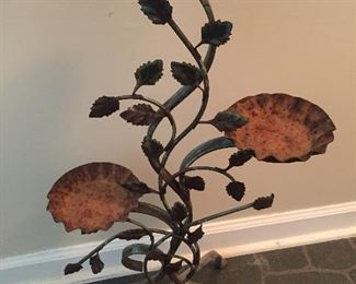 Figural Metal Plant Stand