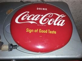 Vintage Coca Cola advertising wall button