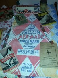 Falcon Mer-Made Chick Mash (Apache Milling Co Apache, OK), Poultry Paper Ephemera