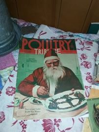 Santa Claus makes the cover of the Poultry Tribune