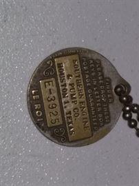 Le Roi Key Chain-Finder please return to Southern Engine & Pump Co Houston 1, Texas