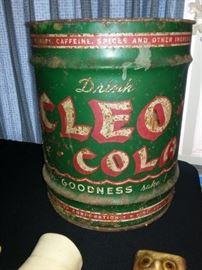 Vintage large Cleo Cola syrup drum