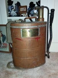 Vintage Copper Fire Pump Extinquisher by Parco 150A