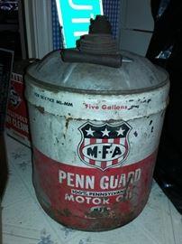 MFA Penn Guard Motor Oil 5-gallon Bucket Can