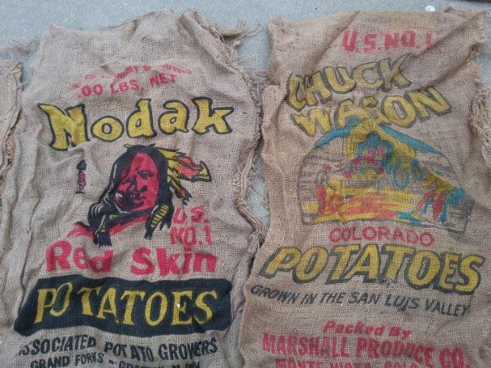 Burlap Potato Bags