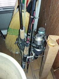 Fishing Rods & Reels, vintage KCMO Gaf