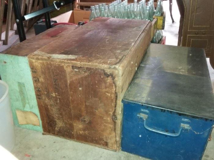 wood & metal boxes