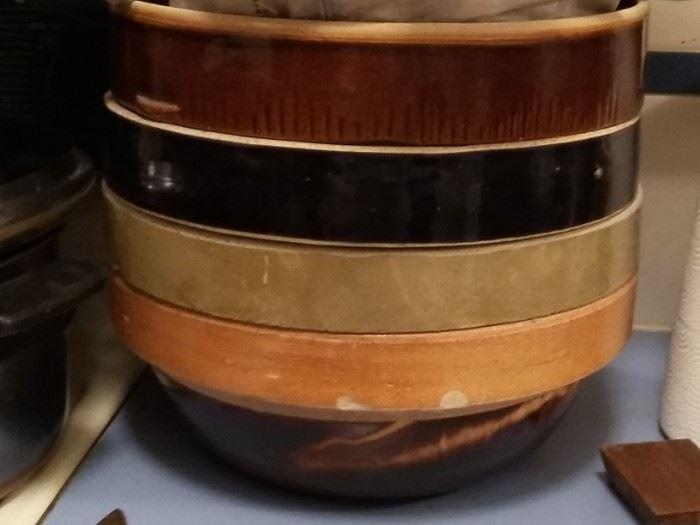Crock Bowls for mixing or raising dough
