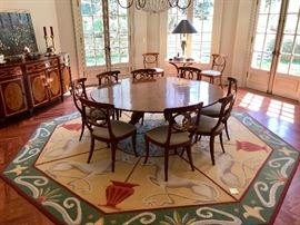 Rose Tarlow Regency Dining Room Table.