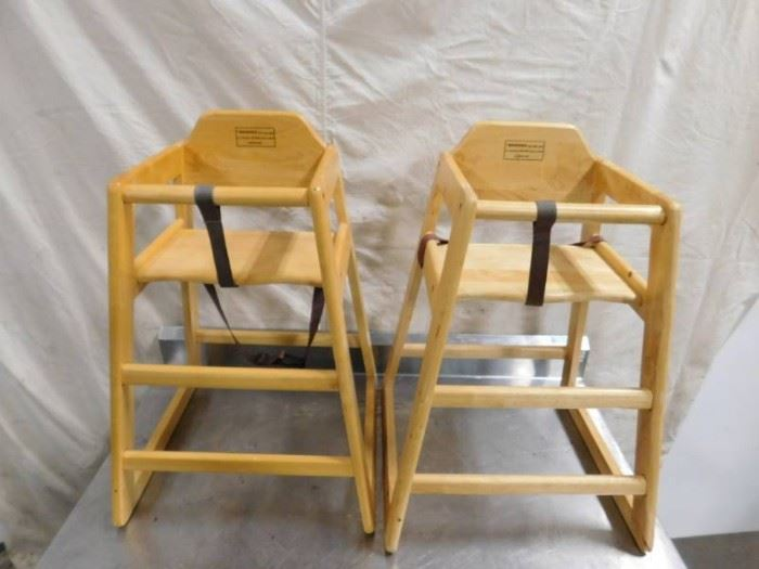 2 Wood High Chairs