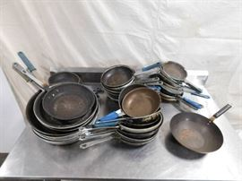 40 Skillets and 1 Wok