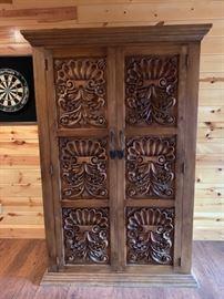 Ornate armoire