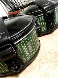 How About These!...Football Themed Hamilton Beach Slow Cookers!...Pulled Chicken...Pulled Pork! Boom!...