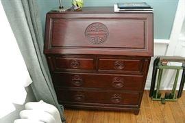 Wonderful Chinese Motif Secretary Desk $275