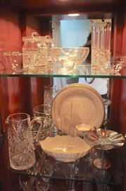 Quality Crystal and China Serving Pieces