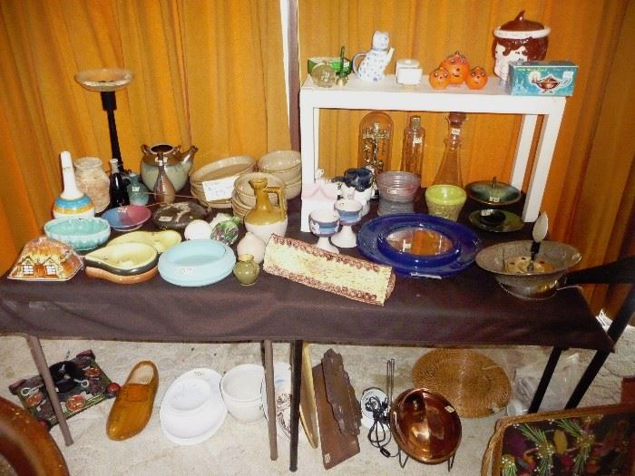 pottery and dishes