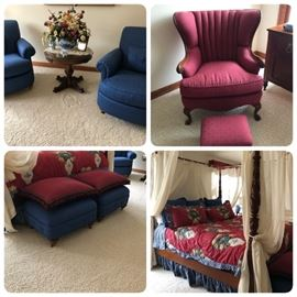 SORRY!  OWNER HAS PULLED BEDROOM SET!  Custom Bedding is still for sale as is the chair/stool