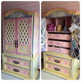 Custom painted armoire