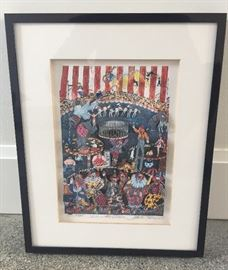 """""""Send in the Clowns"""", 3-D Pop Art serigraph by Charles Fazzino, ed. of 475, image size 6"""" x 9"""", pencil signed lower right"""