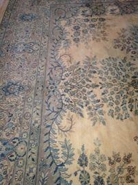 Extra large Kerman handmade rug - 11 feet x 17 feet