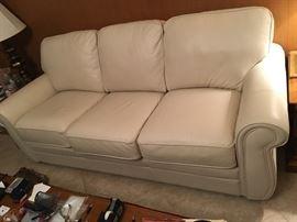 $395 White leather sofa, original price $1500