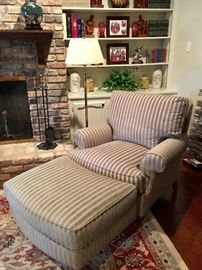 Chair and ottoman by Century Furniture, pristine