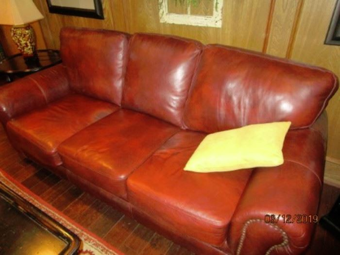 Brown Leather Sofa.  In very good condition