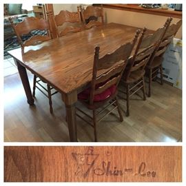 Shin-Lee Oak Table and 6 Chairs