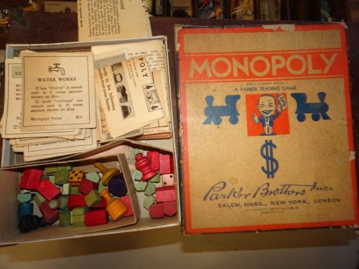 Monopoly Game 1930's