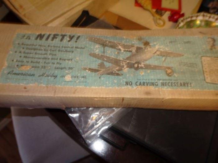Vintage 1960's Balsa Wood Airplane