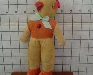 Mohair Easter Chick Squeaker Toy