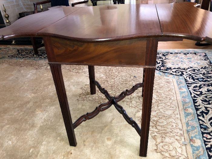 1790 Pembroke Cross Stretcher Drop Leaf Table Original Thomas Burling Cabinet & Chair Maker N0. 36 Beekman St New York with original label