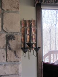 PAIR OF COPPER SCONCES