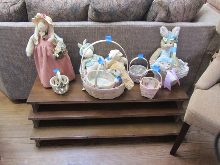EASTER DECORATIONS AND LONGABERGER BASKETS