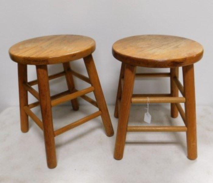 Set of Oak Stools