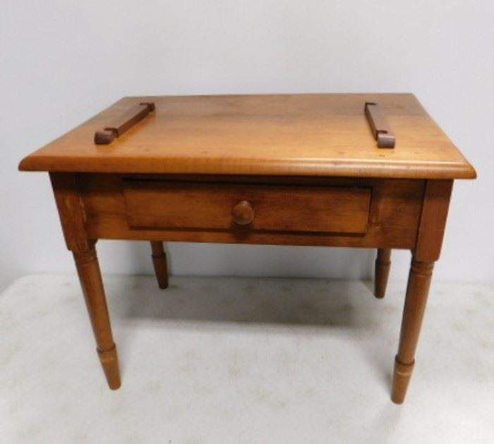 Maple Work Table with Drawer