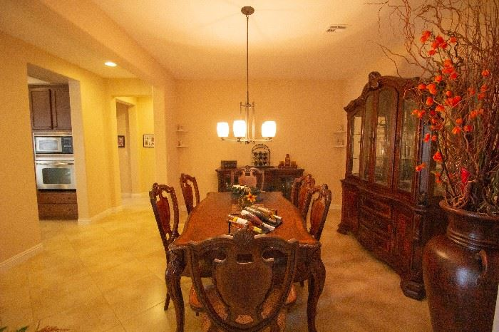 dining room set with buffet and china cabinet - sold as set only