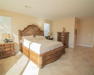 bedroom set - king size with 4 nightstands, dresser, and wardrobe. Set only