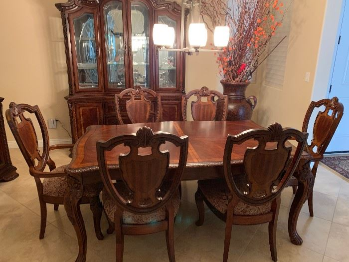 dining room table sold as set only - full set is buffet,  china cabinet and table and chairs