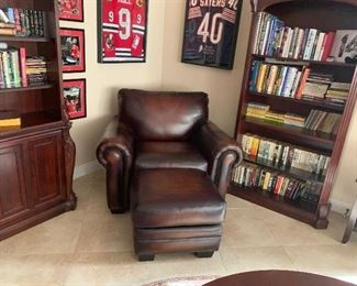 leather chair ottoman