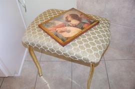 Brass base vanity stool