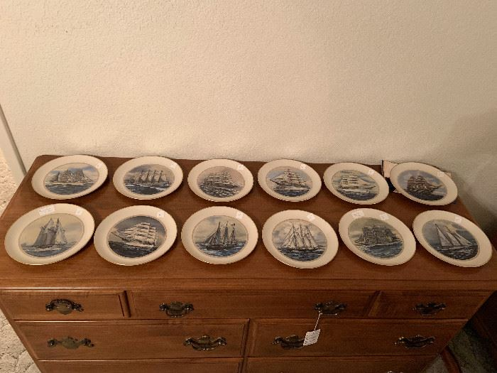 a collection of boat plates