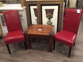 Fabulous Red Pleather Side Chairs